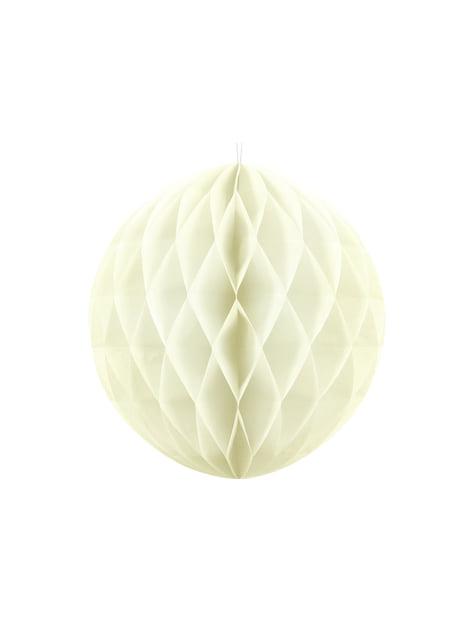Esfera beige de 40 cm de nido de abeja