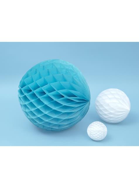 Esfera azul turquesa de 40 cm de nido de abeja - para tus fiestas