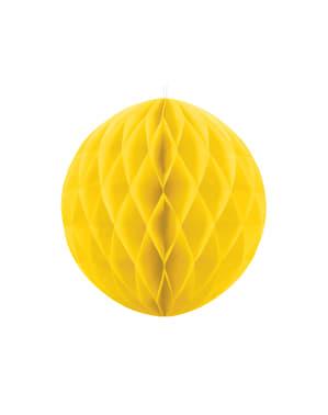 Boule jaune de 40 cm en nid d'abeille