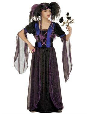 Disfarce de gótica sinistra para menina