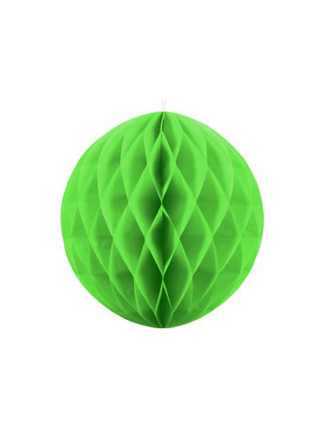 Esfera verde claro de 40 cm de nido de abeja
