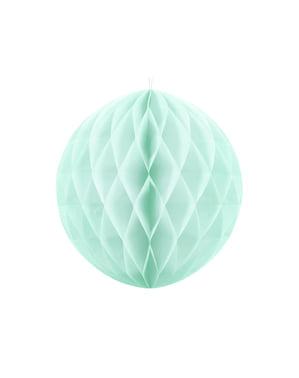 Esfera verde menta pastel de 40 cm de nido de abeja
