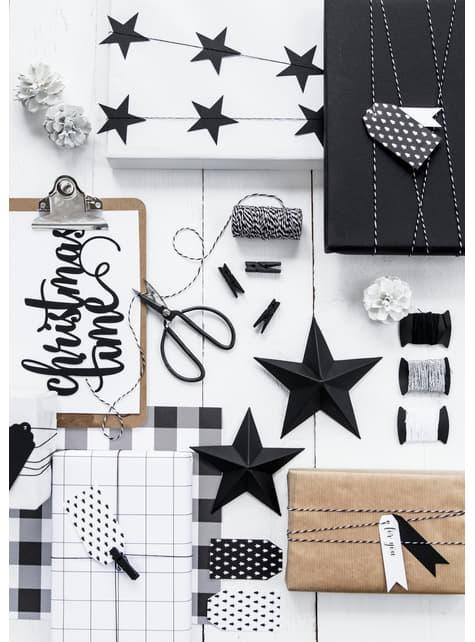 10 pinzas decorativas negras de madera (3,5 cm) - Christmas - para tus fiestas