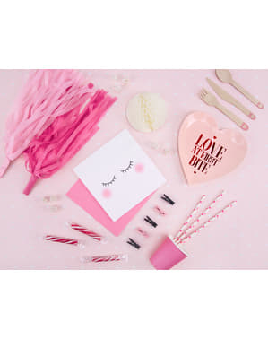 10 Wooden Decorative Pegs, Pink (3,5 cm)