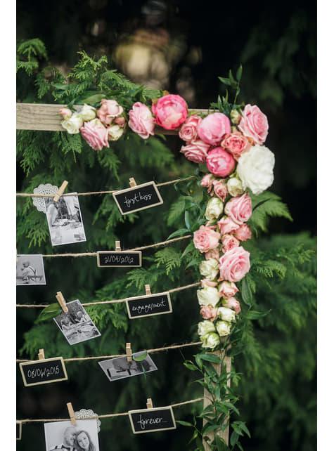 10 pinces décoratives de 3,5 cm en bois