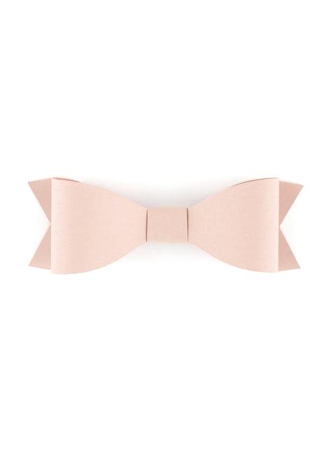 6 lazos decorativos para tarta rosa pastel (9,5 cm) - Sweets - para tus fiestas