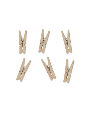 20 Wooden Decorative Pegs (3 cm)
