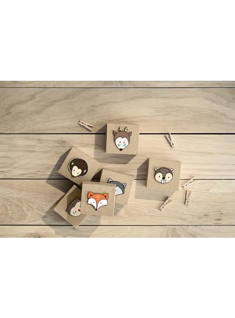20 pinzas decorativas de madera (3 cm)  - barato