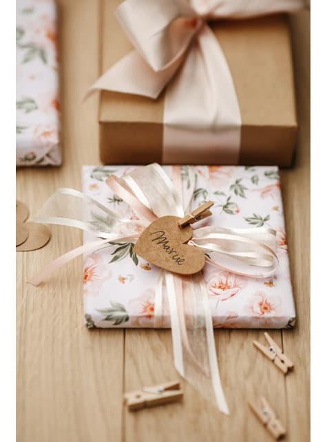 Conjunto de 20 molas decorativas de roupa de 3 cm de madeira
