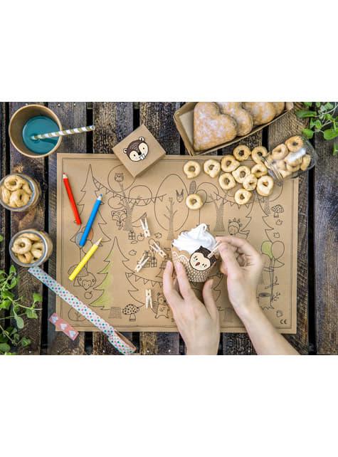 20 pinzas decorativas de madera (3 cm)  - celebra cualquier ocasión
