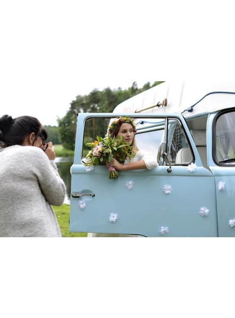 8 flores nenúfares adhesivas para coche de boda - para tus fiestas