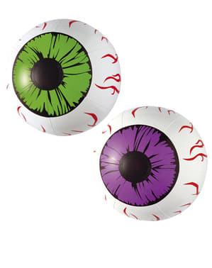 Olhos gigantes e sangrantes