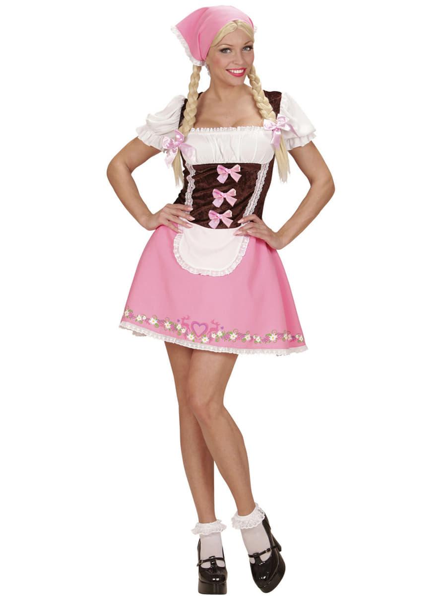Disfraz de chica bávara rosa para mujer | Funidelia