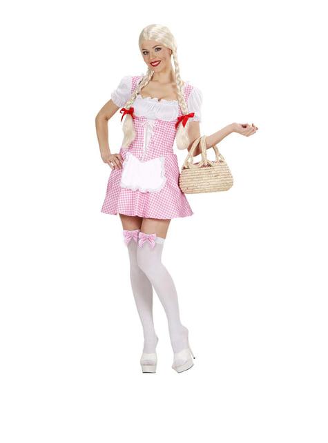 Disfraz de señorita muffet rosa para mujer