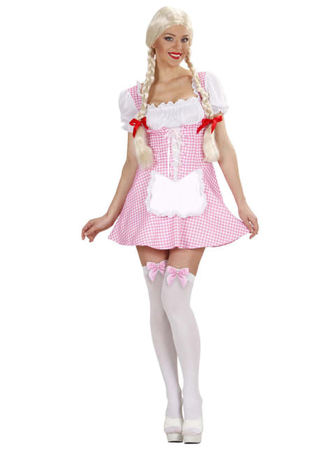 Disfraz de señorita muffet rosa para mujer - mujer