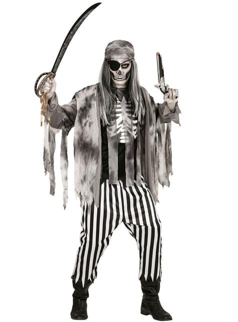 Disfraz de pirata de los siete mares zombie para hombre talla grande - hombre