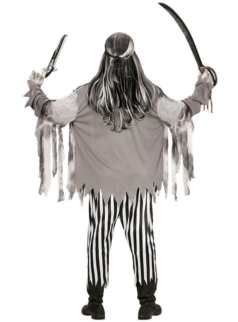 Disfraz de pirata de los siete mares zombie para hombre talla grande - original