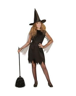 Heksenbezem zwart 92 cm