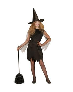 Vassoura de bruxa preta de 92 cm