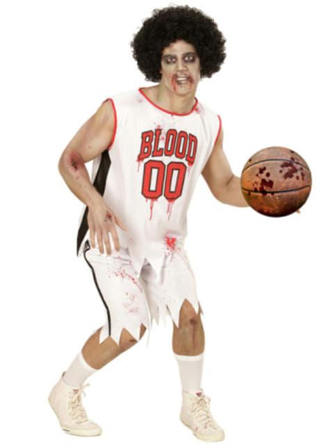 Disfraz de jugador de baloncesto zombie para hombre talla grande - hombre