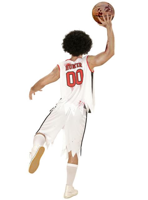 Disfraz de jugador de baloncesto zombie para hombre talla grande - original