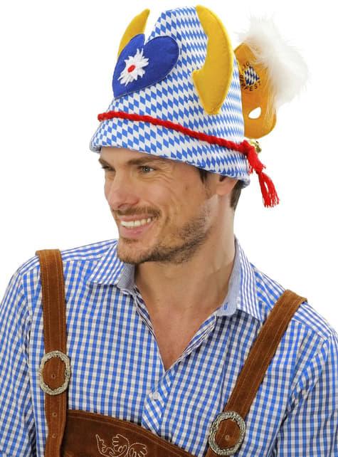Sombrero Oktoberfest con adornos - para tu disfraz