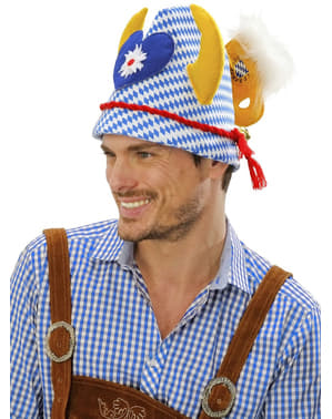 Cappello Oktoberfest con ornamenti