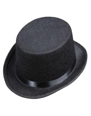 Chlapecký cylindr fleecový černý