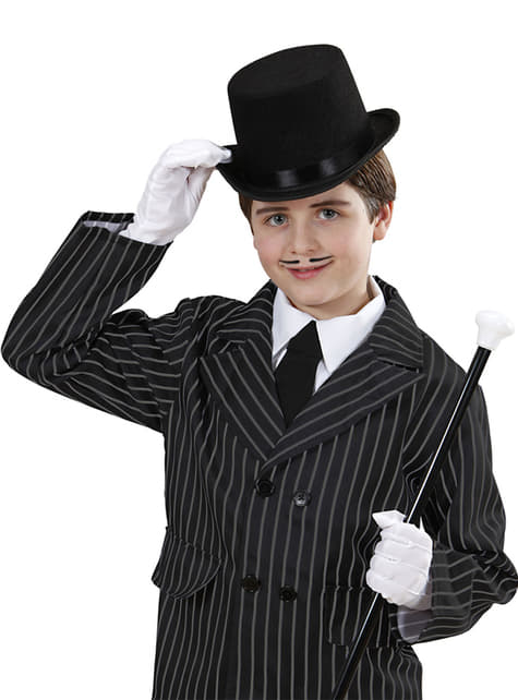 Kids's Black Felt Top Hat