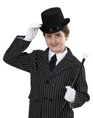 Sombrero de copa negro de fieltro infantil