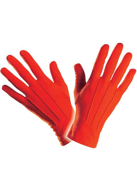 メンズシンプルな赤い手袋
