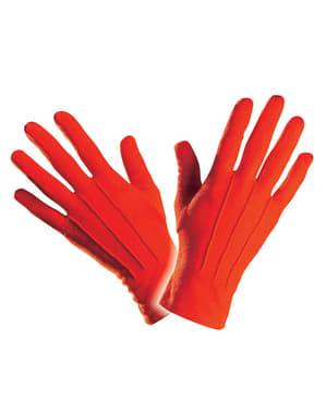 Luvas simples vermelhas para homem