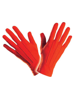 Mens Simple Red Gloves