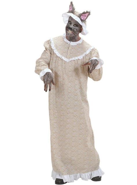 Grootmoeder als wolf Kostuum voor mannen grote maat