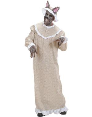 Disfraz de abuela lobo para hombre talla grande