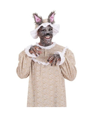 Mens Plus Size Wolf Grandmother Costume