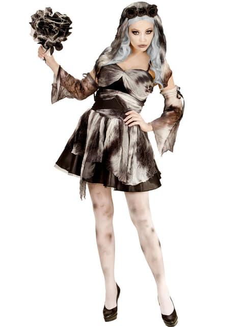 Fato de noiva da morte zombie para mulher