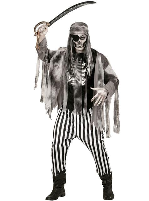 Zombie sjörövare Maskeraddräkt Herr