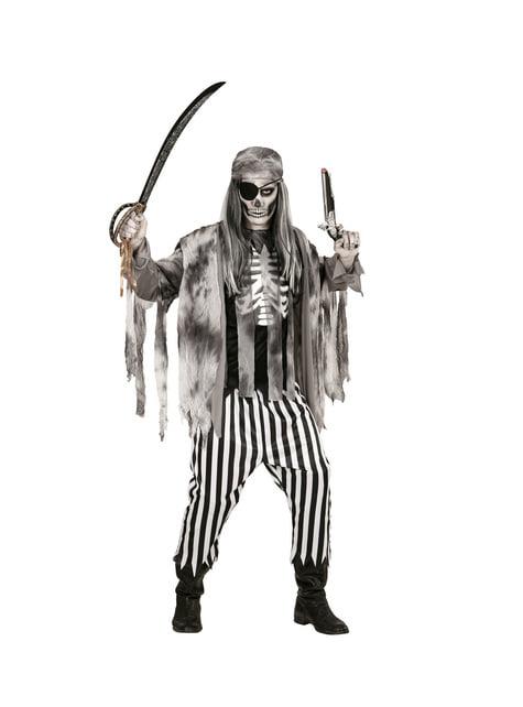 Disfraz de pirata de los siete mares zombie para hombre - hombre