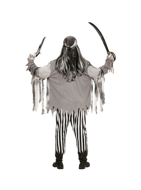 Disfraz de pirata de los siete mares zombie para hombre - original