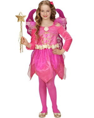 Girls Pink Fairy Costume