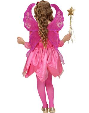 Fato de fada cor-de-rosa para menina