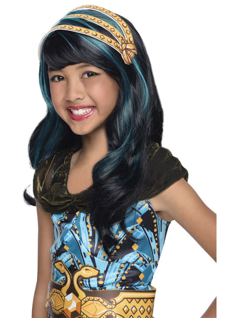 Peluca Cleo de Nile Monster High classic para niña