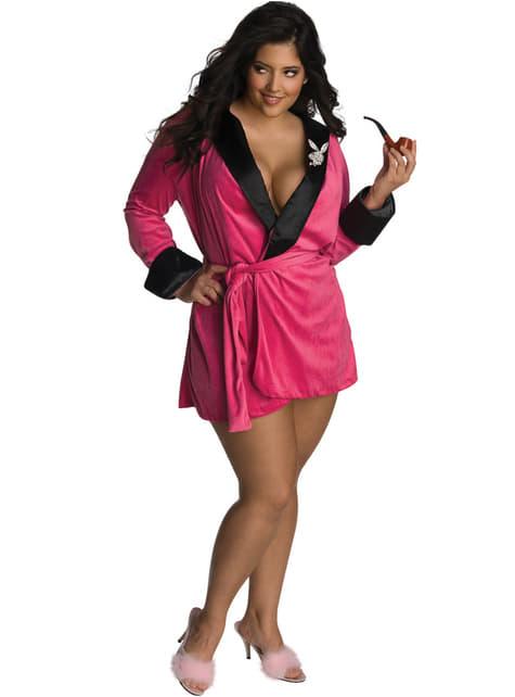 Disfraz de novia rosa Playboy para mujer talla grande