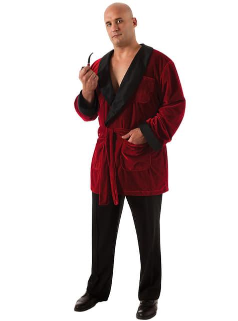 Disfraz de Hugh Hefner Playboy para hombre talla grande