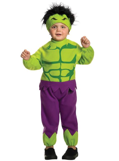 Marvel mini Hulk κοστούμι για ένα παιδί