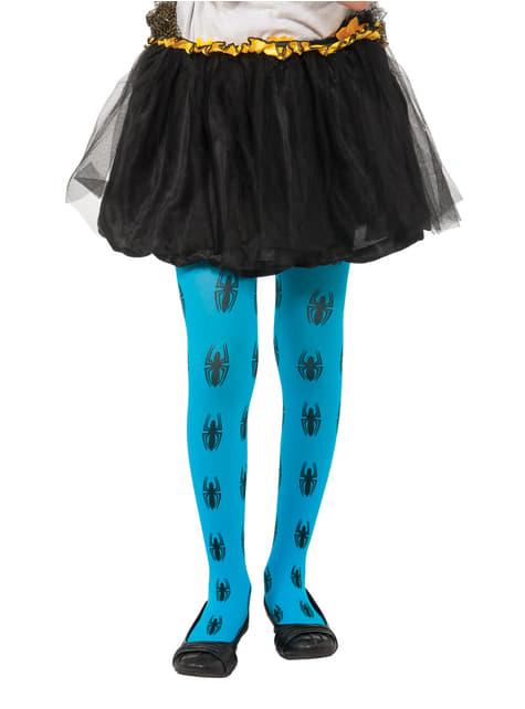 Blauwe panty Spider Girl Marvel voor meisjes