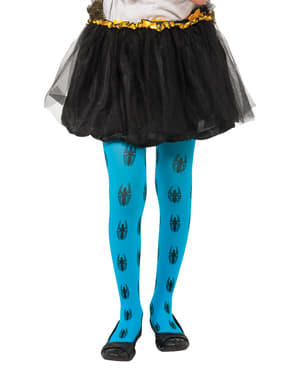 Marvel Spider Girl blue tights for a girl