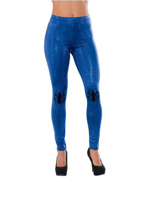 Blauwe legging Spidergirl Marvel voor vrouw