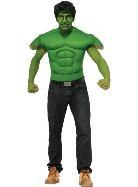 Camisola do Incrível Hulk Marvel musculoso para adulto
